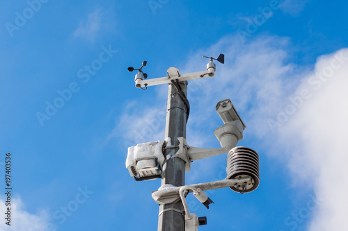 Photo Automatic weather station, with a weather monitoring system and video cameras for observation