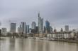 Frankfurt y rio Main (Alemania).