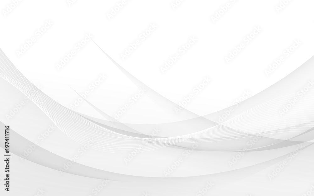 Fototapety, obrazy: Abstract gray waves - data stream concept. Vector Illustration