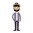 Young and fashion man cartoon vector illustration graphic design
