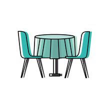 Furniture Restaurant Pair Chai...
