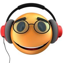3d Orange Emoticon Smile