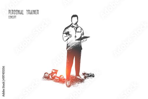 Fotografie, Tablou Personal trainer concept