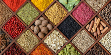 Colorful Spice Background.
