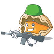 Army oyster character cartoon style