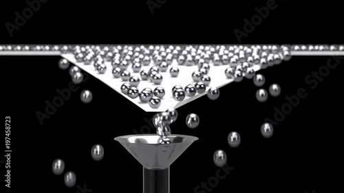 Fotografía 3D rendering of Balls arrange and funnel conversion rate concept, 3d illustratio