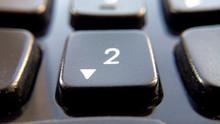 Button 2 On Black Keyboard Whi...