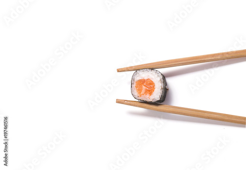Syake Roru roll and sticks on white background