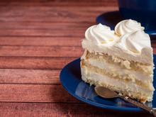 Delicious Light Ice Cream Cake With Roses Cream