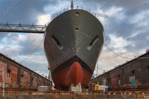 Fotografía  Schiff auf der Werft zur Verschönerung