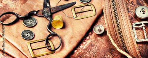 Tools for leather craft Canvas Print