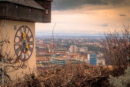 Poster Marron chocolat Graz Uhrturm