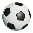 canvas print picture - Klassischer Fußball isoliert vor weiß