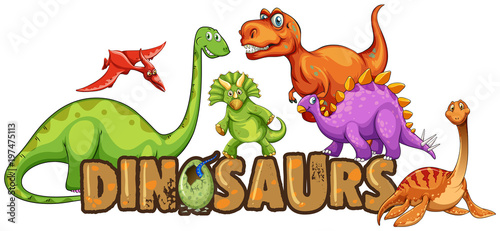 Recess Fitting Kids Word design for dinosaurs