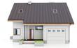3d modern house on white background 3D illustration