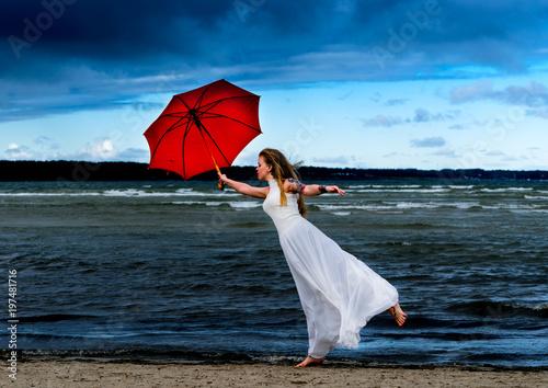 Fényképezés  Mary Poppins, modern fashion concept