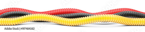 Fotografie, Obraz  Colored corrugated pipe for installation of electrical cable