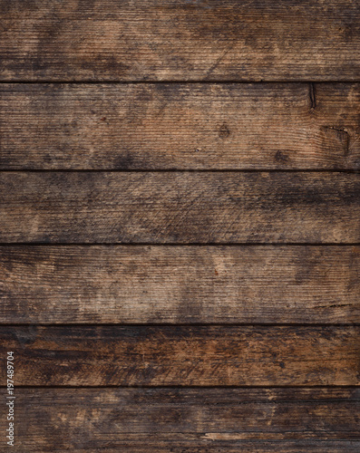 Rustic grunge weathered wooden planks background, sharp and highly detailed Wall mural
