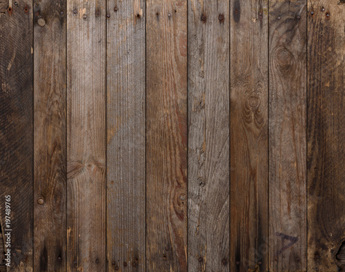 Papiers peints Bois Wood texture background. Wooden planks background, weathered, with nails, top view, sharp and highly detailed.