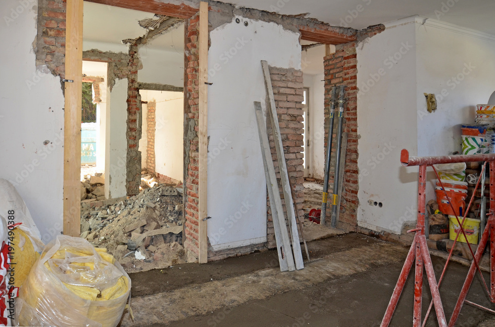 Umbau Haus photo & art print renovierung von haus, umbau | europosters