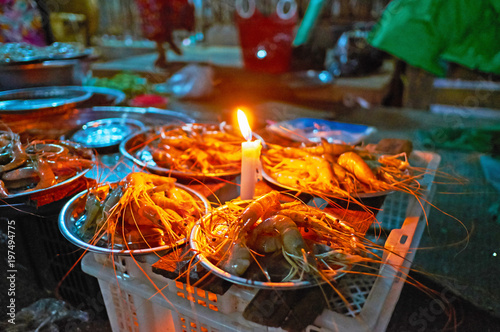 Shrimps in Chinatown market, Yangon, Myanmar
