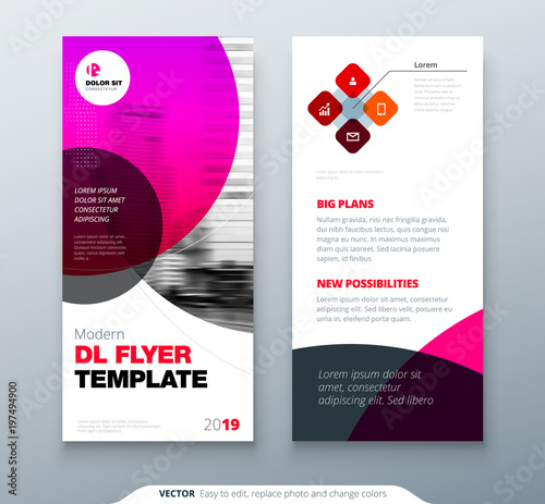 Dl Flyer Design Pink Business Template For Dl Flyer Layout With