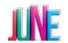 June Sign. Vector Illustration.