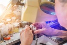 Close Up Watchmaker Repairing ...