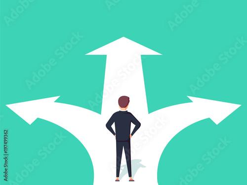Fotografía Business decision concept vector illustration