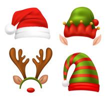 Santa Claus Concept Icons Set