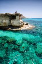 Sea Caves Of Cavo Greco Cape. ...