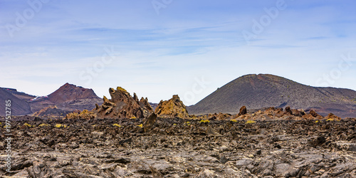 Foto op Canvas Canarische Eilanden landscape of Lanzarote, Canary Islands