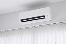 Air Conditioner On White Wall ...