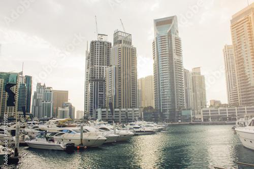 Photo  Dubai sunny cityscape