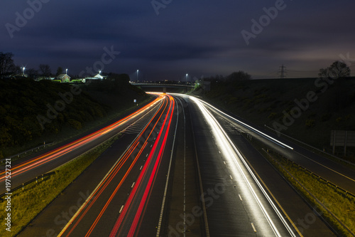 Foto op Aluminium Nacht snelweg Highway during night time