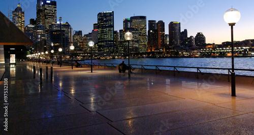 Fotografia, Obraz  Evening approaching Sydney Harbour