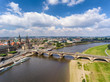 Aerial view of Dresden, Germany