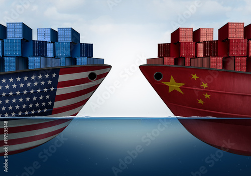 China United States Trade Wallpaper Mural