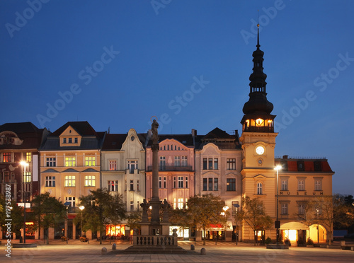Masaryk Square in Ostrava. Czech Republic Poster