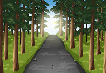 Background Scene Of Road In Th...