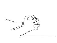 Continuous Line Drawing. Hands...