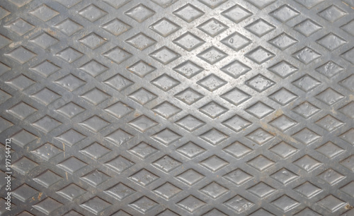 Fotografija  Cast diamond embossed plate background