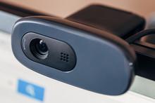 Modern Web Camera On Computer ...