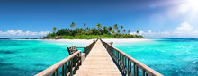 Tropical Destination - Maldives - Pier For Paradise Island