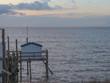 Nouvelle-Aquitaine - Carrelet sur la côte en soirée