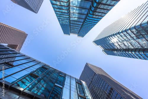 Staande foto London up veiw of modern building in shanghai china