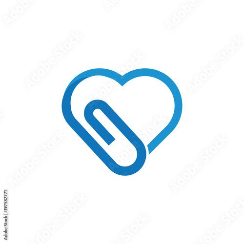 Cuadros en Lienzo  Love Clip Logo Icon Design