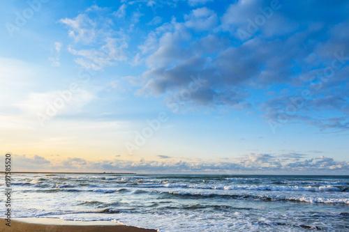 Deurstickers Kust 午後の浜辺