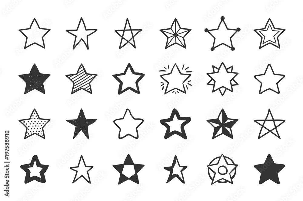 Fototapety, obrazy: Hand Drawn Stars