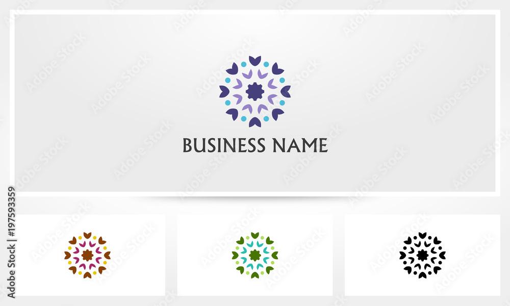 Fototapety, obrazy: Dandelion Flower Logo